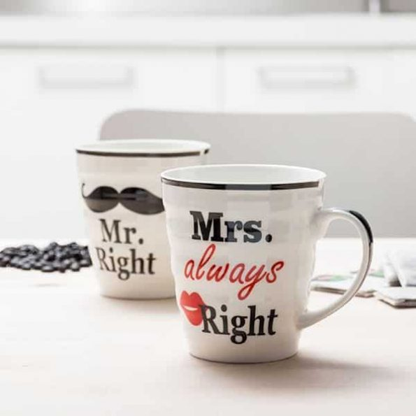 Чаши Mr. Right & Mrs. Always Right