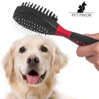 Четка с Две Лица за Домашни Животни Pet Prior