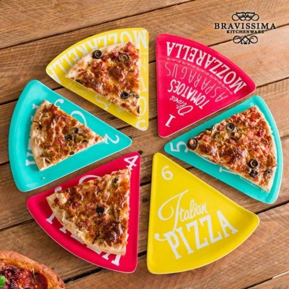 Чинии за Пица Colors Bravissima Kitchen (6 броя)