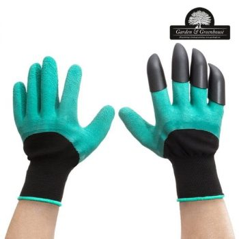 градинарски ръкавици за копаене с 4 нокътя