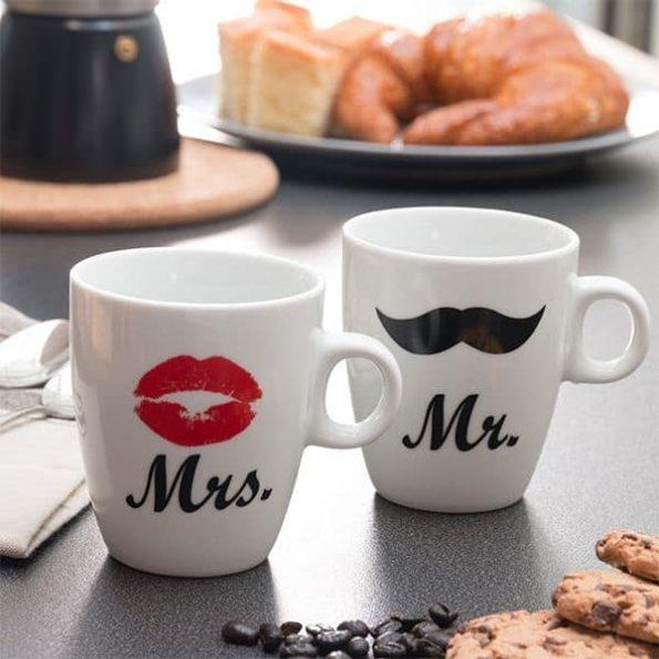 Индивидуални Чаши Mr & Mrs, Mrs
