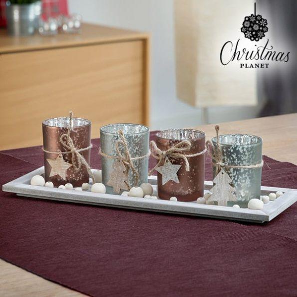 Коледна Декорация за Маса Свещник Christmas Planet