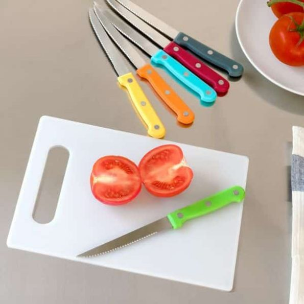 Комплект Ножове с Дъска Colors (7 части)