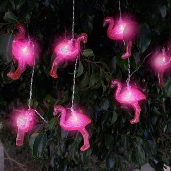 LED Гирлянда с Фламинги