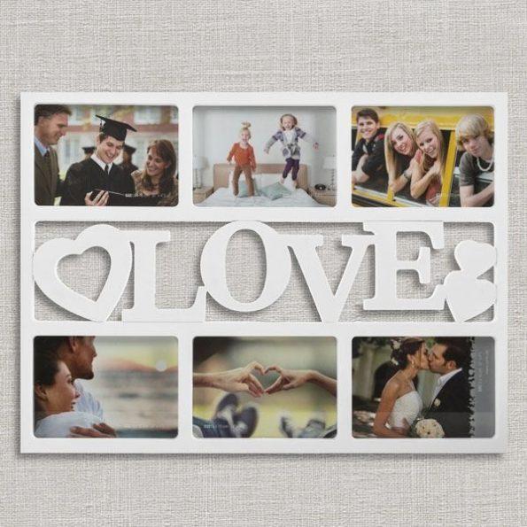 Рамка за Снимки Love със Сърчица (6 снимки)