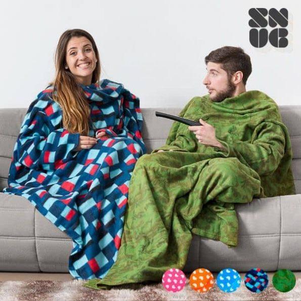 Snug Изключително Меко и Топло Одеяло с Ръкави за Възрастни Командо