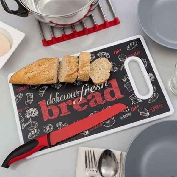 Дъска и Нож за Рязане на Хляб